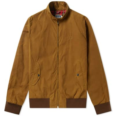 Fred Perry Reissues Made in England Waxed Harrington Jacket