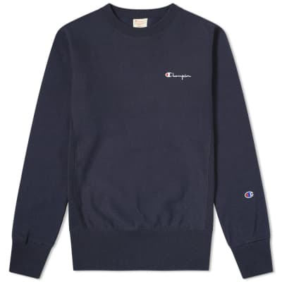 Champion Reverse Weave Rear Script Logo Crew Sweat