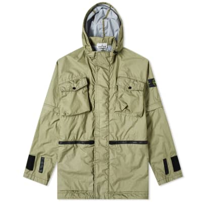 Stone Island Membrana 3L TC Zip Hooded Pocket Shell Jacket