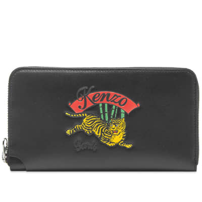 Kenzo Jumping Tiger Long Zip Wallet