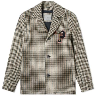 Lanvin Collegiate Patch Check Jacket