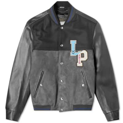 Lanvin Collegiate Patch Teddy Jacket