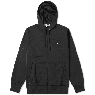 Comme des Garcons Play Black Heart Full Zip Back Print Hoody