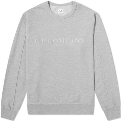 C.P Company Straight Logo Crew Sweat