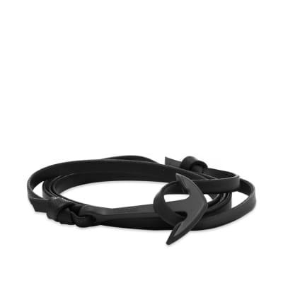 Miansai Black Anchor Leather Bracelet