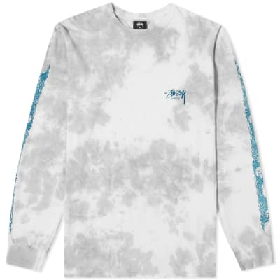 6e8c0bdb Stussy Long Sleeve Waves Tie Dye Tee