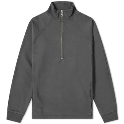 Folk Rivet Funnel Quarter Zip Sweat
