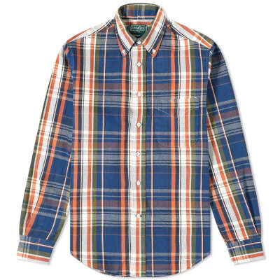 Gitman Vintage Button Down Oxford Twill Check Shirt