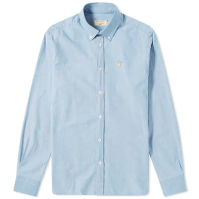 Maison Kitsuné Button Down Chambray Shirt