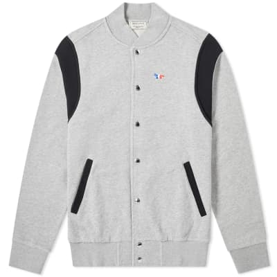 Maison Kitsuné Teddy Tricolour Fox Patch Jacket