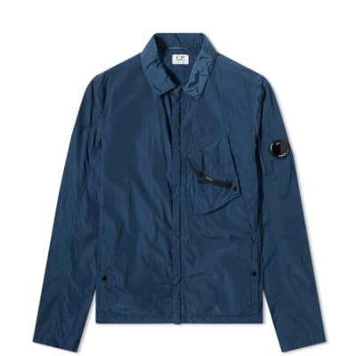 C.P. Company Undersixteen Goggle Chrome Nylon Zip Shirt