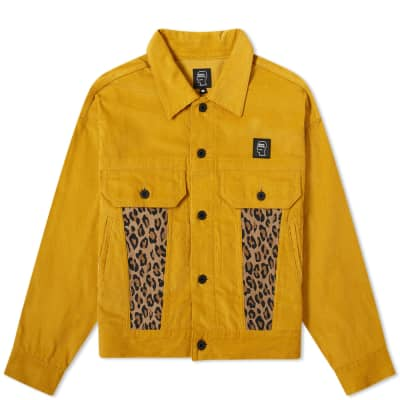 Brain Dead Corduroy Leopard Contrast Trucker Jacket