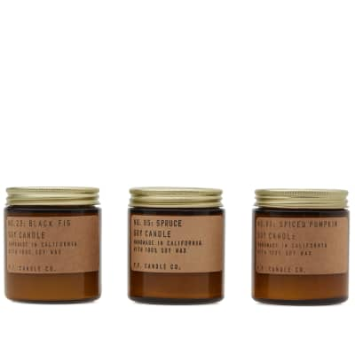 P.F. Candle Co Seasonal Classics Mini Soy Candle Set