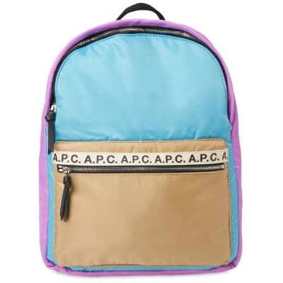 A.P.C. Marc Tape Logo Backpack