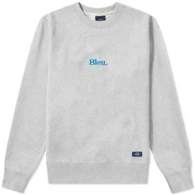 Bleu de Paname Bleu. Embroidered Logo Crew Sweat