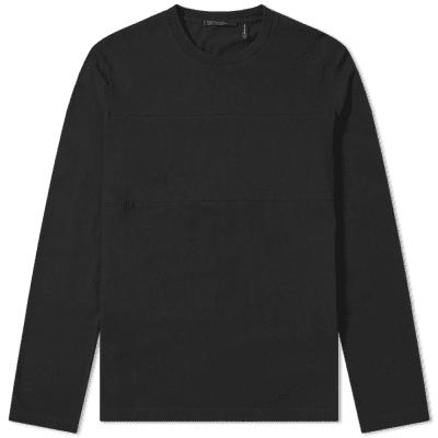 Helmut Lang Long Sleeve Band Seam Back Logo Tee