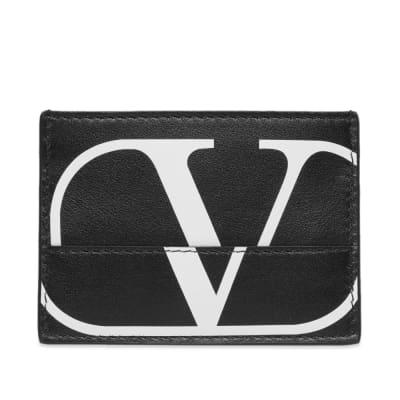 Valentino Constructed V Logo Card Holder