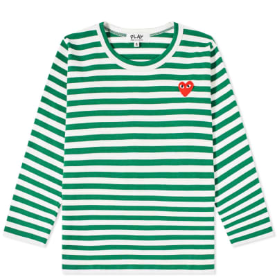 Comme des Garcons Play Kids Long Sleeve Stripe Tee