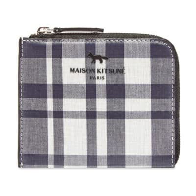 Maison Kitsuné Coated Check Coin Wallet