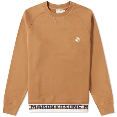 Maison Kitsuné Fox Head Patch Jacquard Crew Sweat