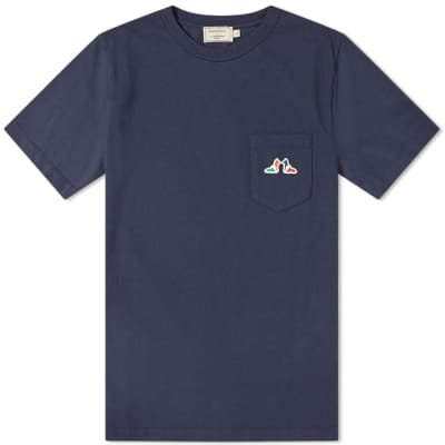 Maison Kitsuné Resting Fox Patch Pocket Tee