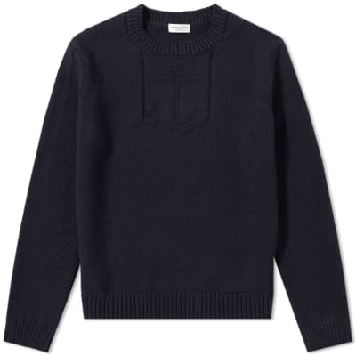 Saint Laurent Anchor Pattern Crew Knit