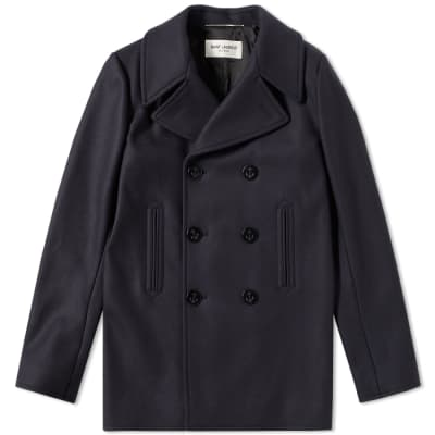 Saint Laurent Wool Pea Coat