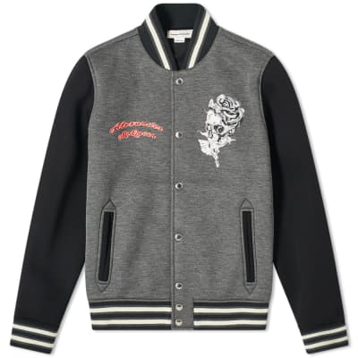 Alexander McQueen Embroidered Bomber Jacket
