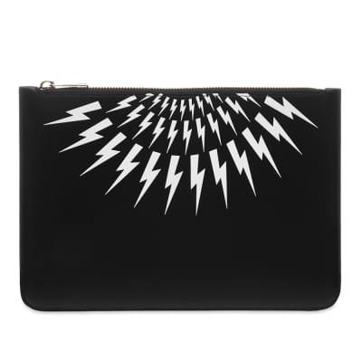 Neil Barrett Small Lightning Bolt Pouch