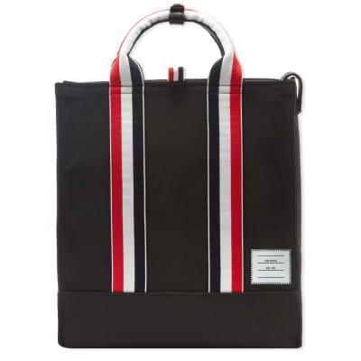 Thom Browne Grosgrain Strap Tote Bag