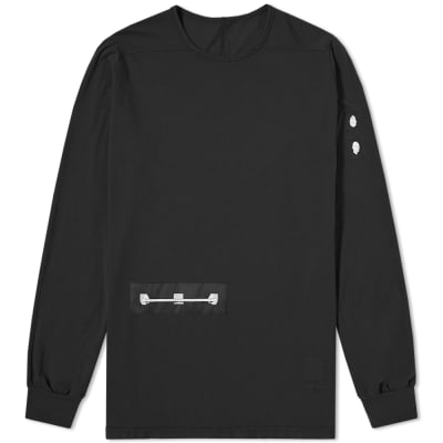 Rick Owens DRKSHDW Long Sleeve Level Patch Tee
