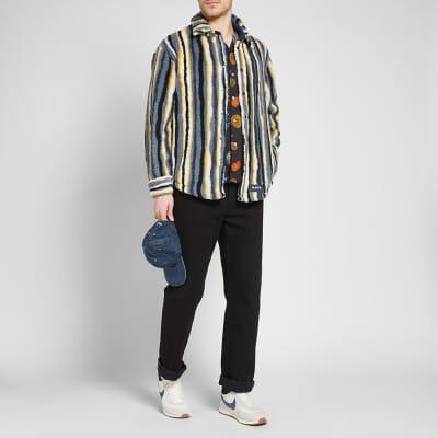 Napa by Martine Rose Stripe Fleece Overshirt