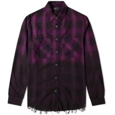 AMIRI Fade Out Forever Plaid Over Shirt