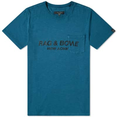 Rag & Bone Upside Down Logo Tee