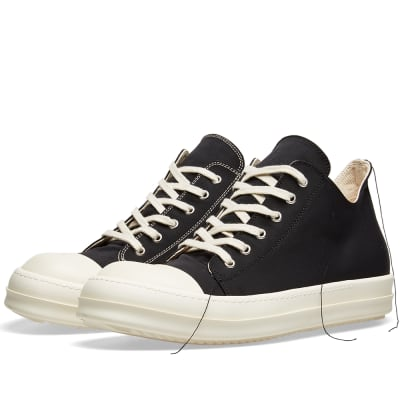 Rick Owens DRKSHDW Contrast Stitch Low Canvas Sneaker