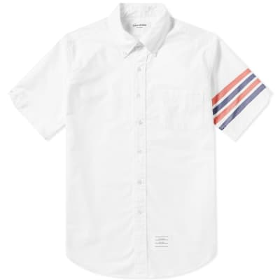 Thom Browne Short Sleeve 4 Bar Classic Oxford Shirt