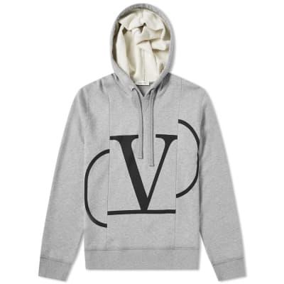 Valentino Constructed V logo Popover Hoody