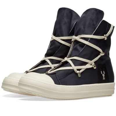 Rick Owens DRKSHDW Nylon Criss Cross Laced High Top Sneaker