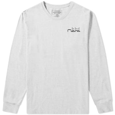 Neighborhood Long Sleeve Abjad Tee