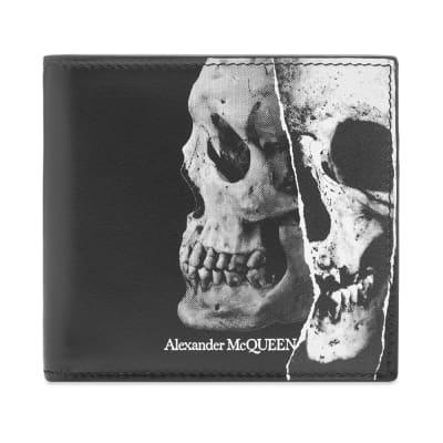 Alexander McQueen Fragment Skull Billfold Wallet