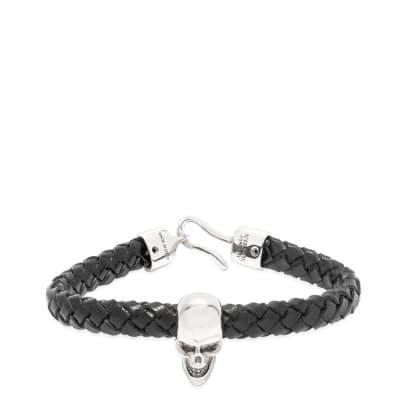 Alexander McQueen Leather Skull Bracelet