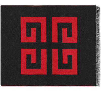 Givenchy Wool Silk Logo Scarf