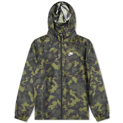 Nike Camo Hooded Windbreaker