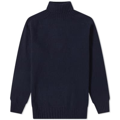 Officine Generale Scottish Wool Turtle Neck Knit