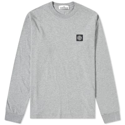 32aea9db Stone Island Long Sleeve Patch Logo Tee