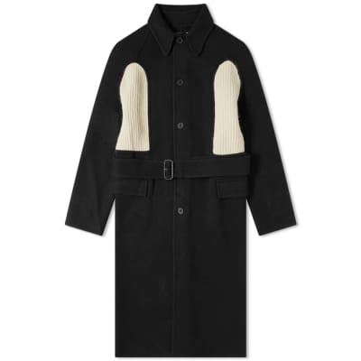 JW Anderson Knitted Insert Wool Coat
