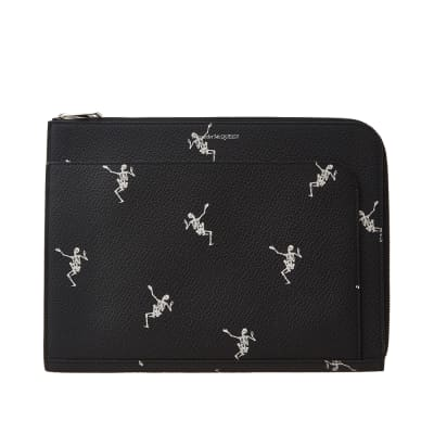 Alexander McQueen Dancing Skeleton Small Zip Pouch