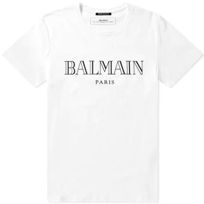 Balmain Logo Print Tee