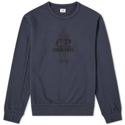 C.P. Company Sailor Embroidered Logo Sweat
