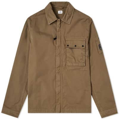 C.P. Company Gabardine Arm Lens Zip Shirt Jacket